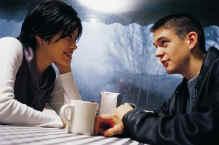 Giovani in cafe